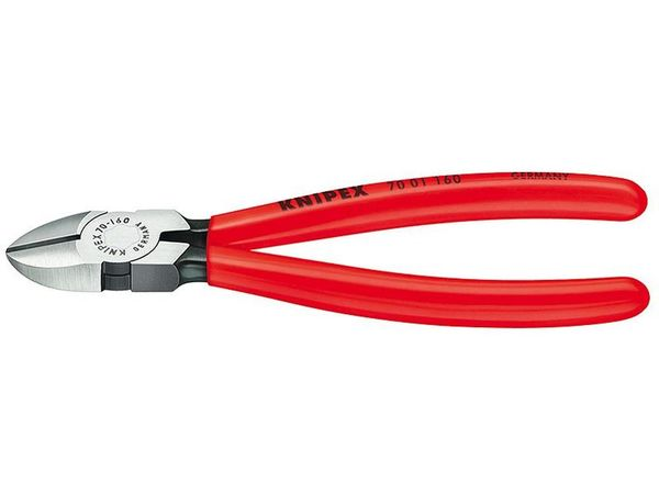 Boční štípací kleště 110 mm KNIPEX 70 01 110 - leštěná hlava, plastové návleky