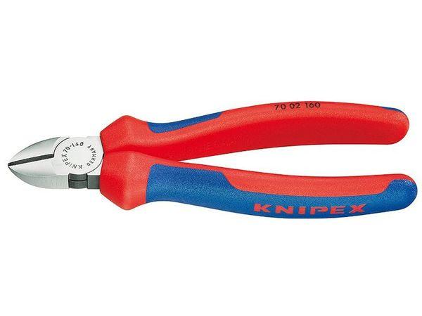 Boční štípací kleště 125 mm KNIPEX 70 02 125 - leštěná hlava, vícesložkové návleky