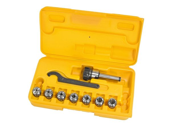 Kleštinový upínač a kleštiny Bernardo Set ER25/MK2. Sada 10ks 3-16mm