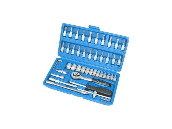 """Gola sada 1/4"""" (4 ÷ 14 mm) BGS102145 Super Lock - 46 dílů v kufru"""