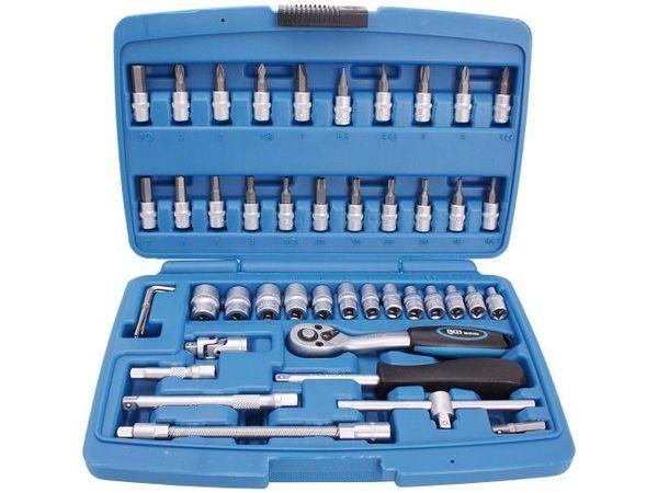 """Gola sada 1/4"""" (4 ÷ 14 mm) BGS102146 Super Lock - 46 dílů v kufru"""