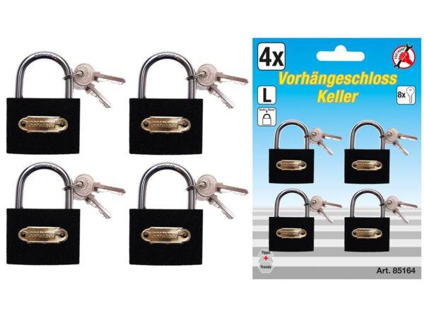 Sada visacích zámků Kraftmann typ L BGS1085164 univerzální klíč (4x 35 mm)