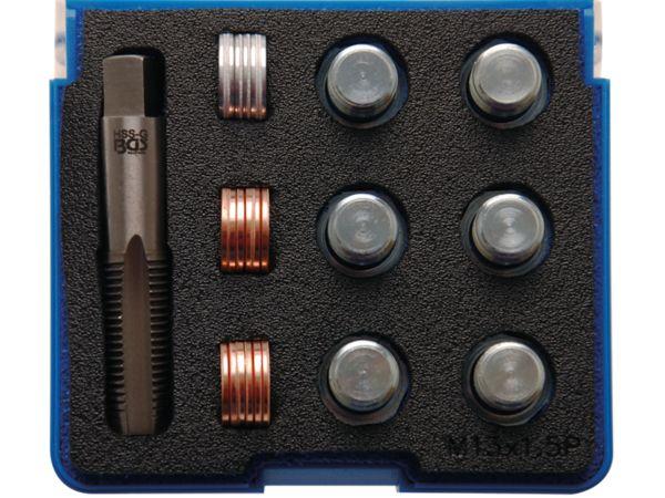 Sada na opravu závitů olejových van M13 x 1,5 mm BGS100156 (25 dílů)
