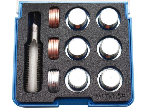 Sada na opravu závitů olejových van M17 x 1,5 mm BGS100158 (25 dílů)