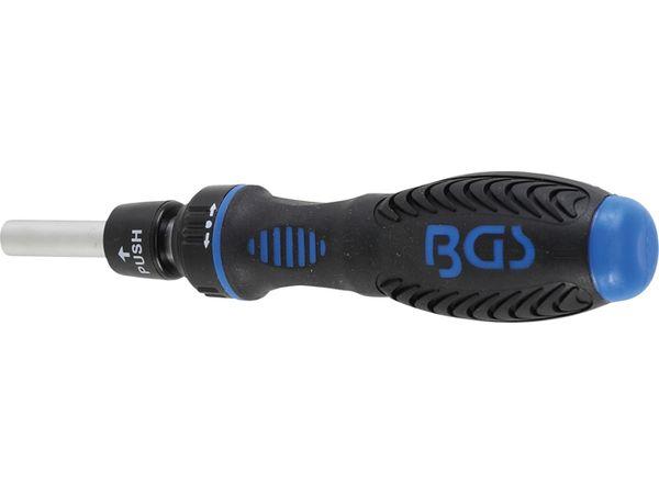 """Ráčnová otočná rukojeť na 1/4"""" bity BGS109150, přepínací"""