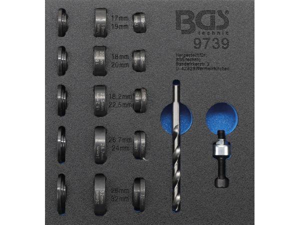Nářaďový modul 1/6 - BGS109739 Děrovače pro parkovací senzory pr. 17 ÷ 32 mm