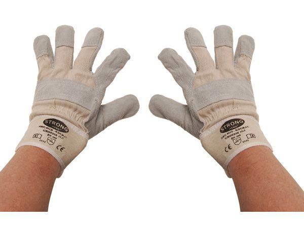 Pracovní rukavice - kožené s podšívkou BGS109957, velikost 10,5