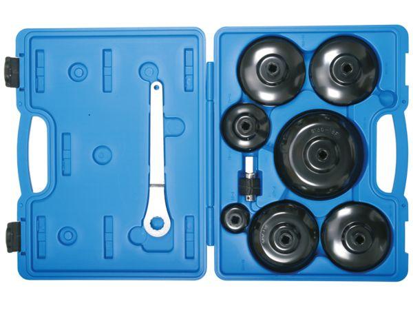 Hlavice a klíče na olejové filtry BGS101019 Sada 9 dílů