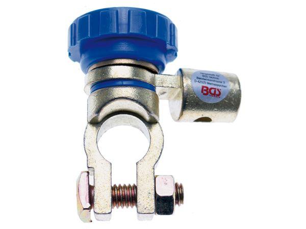 Odpojovač kontaktu autobaterie BGS101415, úhlový, kulaté svorky (250 A)